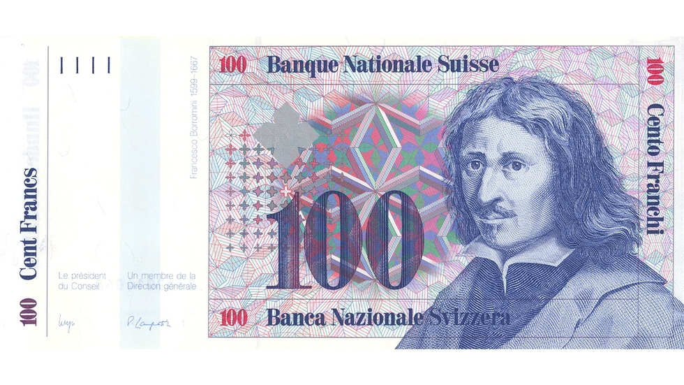 Seventh banknote series, 1984, 100 franc note, front