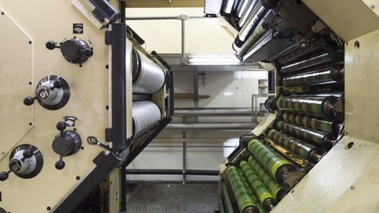 Open offset printing press