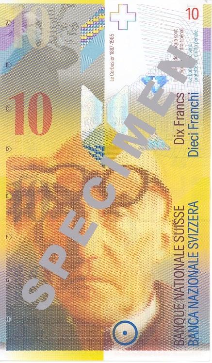 Bildergebnis für corbusier zehn franken