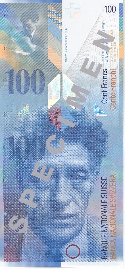 100 Schweizer Franken