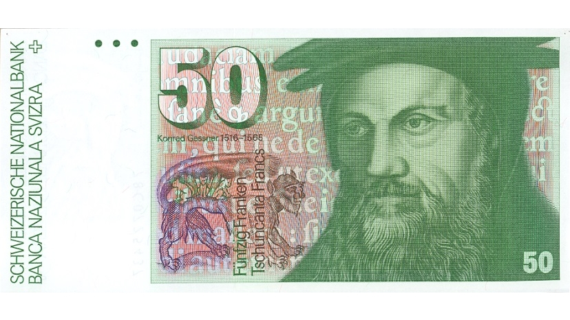 Sixth banknote series, 1976, 50 franc note, front