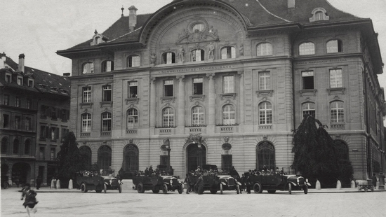 Main building in Berne in the twenties
