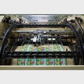 Sheet in the offset printing press