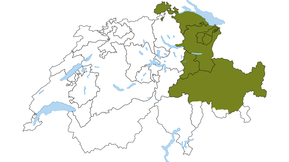 Eastern Switzerland region